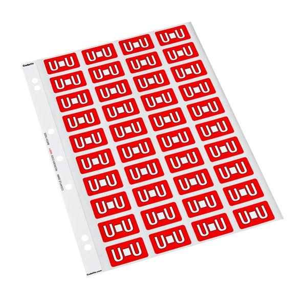 Codafile Labels U 25mm Sheet 5 -