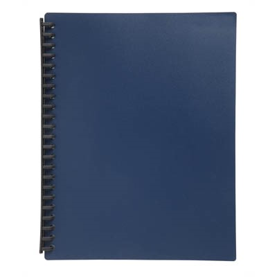 Marbig Display Book Refillable A4 20 Pockets Dark Blue - pr_1702177