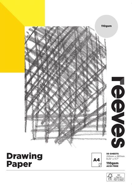 Reeves Drawing Pad 110gsm A4 50 Sheets -