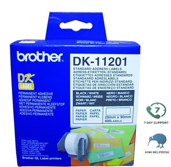 Brother DK Label Standard Address DK11201 29mmx90m Roll 300 -