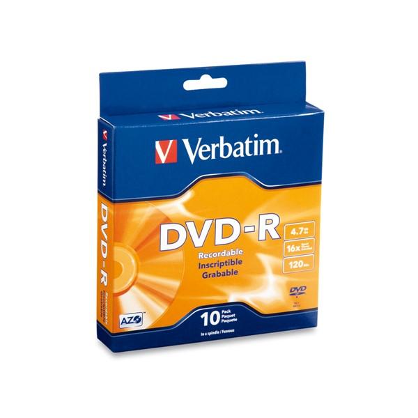 Verbatim DVD-R 4.7GB Spindle 16x 10pk -