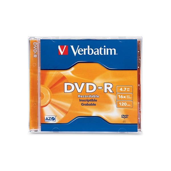 Verbatim DVD-R 4.7GB Jewel Case 16x 1pk -