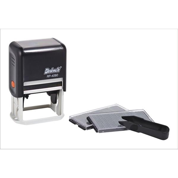 Deskmate DIY Stamp Kit 5 Lines 3mm/4mm Text Black -