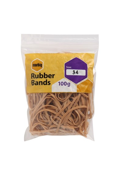 Marbig Rubber Bands Size 34 100gm - pr_1702768