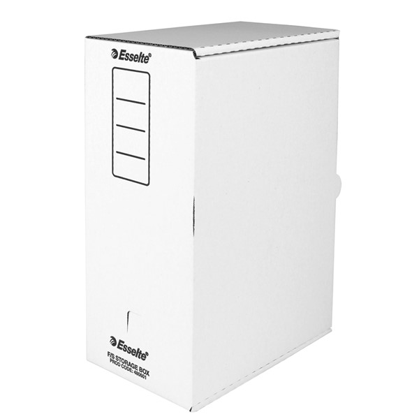 Esselte Double Storage Box Foolscap White -