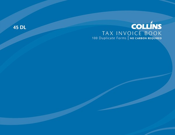 Collins Tax Invoice Book 45 DL Duplicate 100 Pages - pr_1772905
