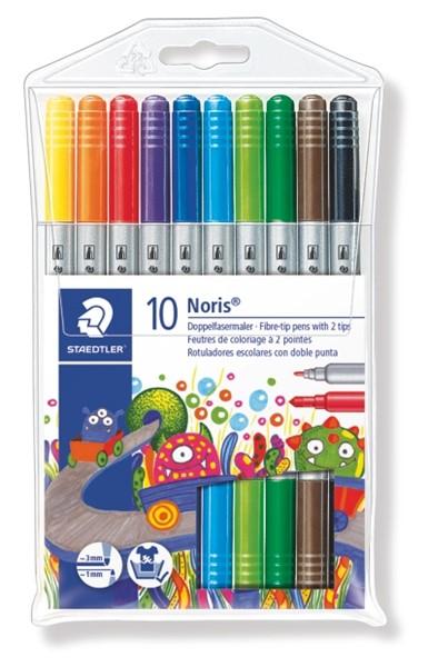 Staedtler Noris Club Double Ended Fibre-Tip Pen 10pk -