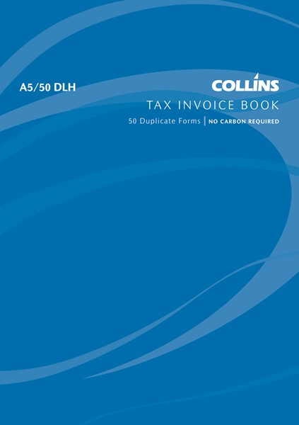 Collins Tax Invoice Book A5/50 DLH Duplicate 50 Pages -