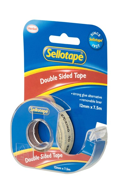 Sellotape Tape Double Sided 12mmx7.5m With Dispenser - pr_401640