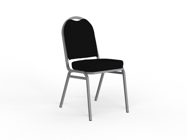 Knight Klub Stackable Guest Chair Black Assembled -