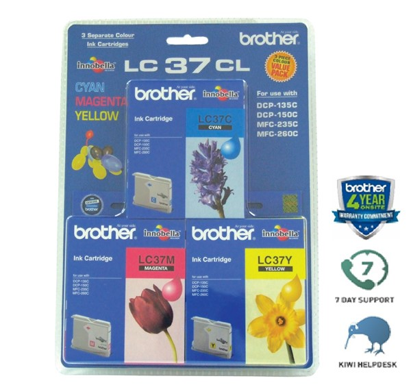 Brother Ink Cartridge LC37CL3PK CMY -