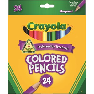 Crayola 24 Full Size Coloured Pencils