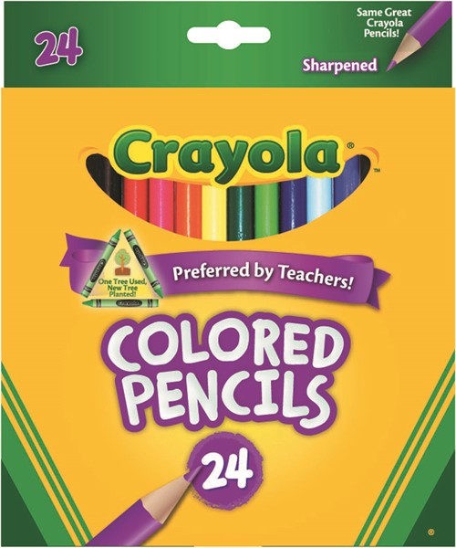 Crayola Coloured Pencils Full Size Pack 24 - pr_1702752
