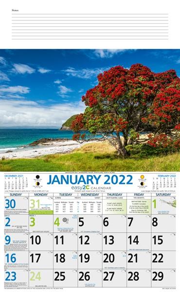 2022 Calendar Easy2C NZ Scenic -