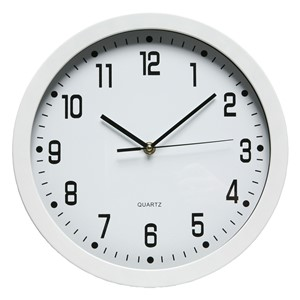 Dixon Round Plastic Wall Clock White