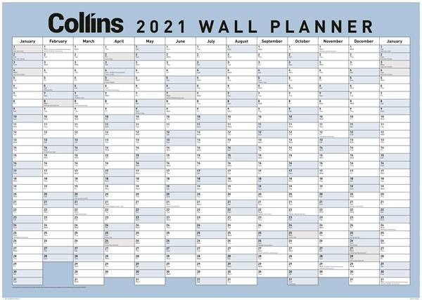 Collins Large 2021 Wallplanner -