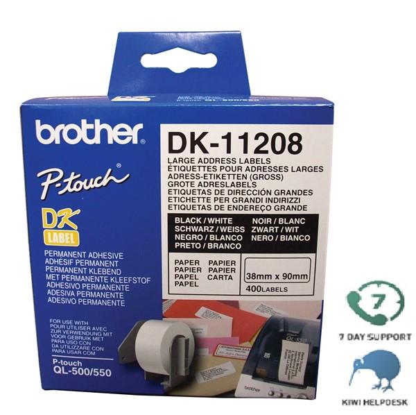 Brother DK Label Large Address DK11208 38mmx90m Roll 400 - pr_401998