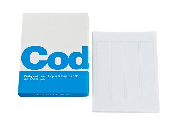 Codafile Print Labels A4 25mm Sheet  25 - pr_1699196