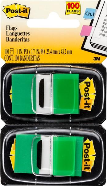 POST-IT® FLAGS 680 GREEN 25X43 PK50  - pr_1709496
