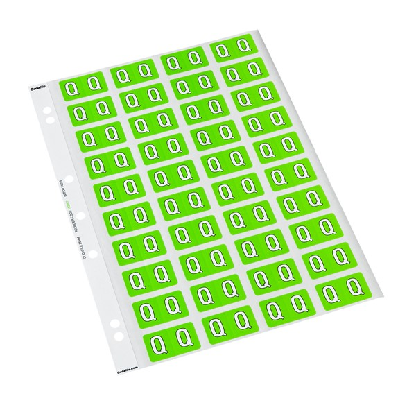 Codafile Labels Q 25mm Sheet 5 - pr_402015