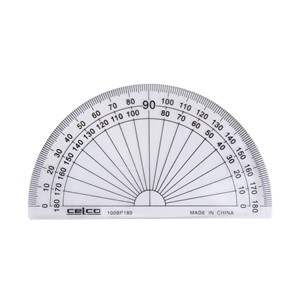 Celco Protractor 180 Degree 10cm