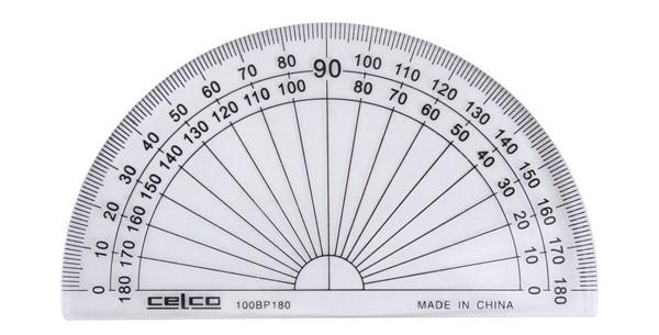 Celco Protractor 180 Degree 10cm -