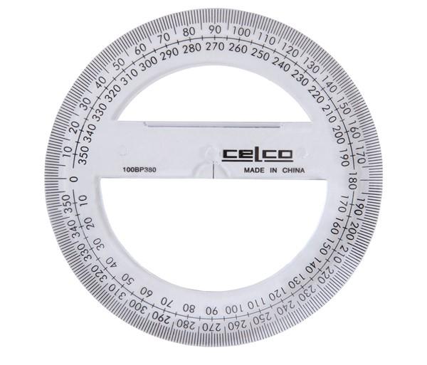 Celco Protractor 360 Degree 10cm -