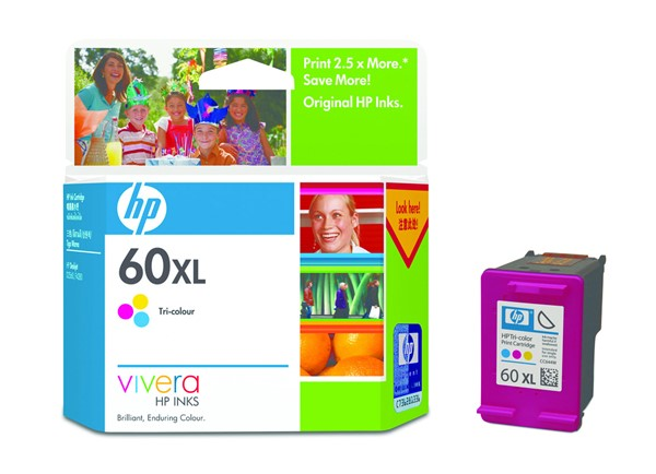 HP Ink Cartridge CC644WA 60XL Tri-Colour High Capacity - pr_402033