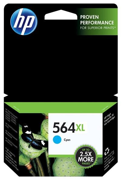 HP Ink Cartridge CB323WA 564XL Cyan High Capacity - pr_402307