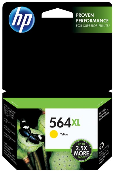 HP Ink Cartridge CB325WQ 564XL Yellow High Capacity - pr_402309
