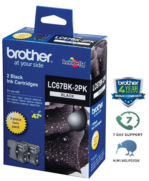 Brother Ink Cartridge LC67BK2PK Black Twin Pack - pr_402361