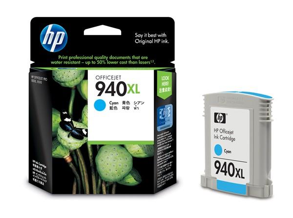 HP Ink C4907AA 940XL Cyan High Capacity -