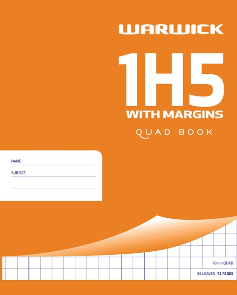 Warwick Exercise Book 1H5 with Margin 36lf - pr_402453