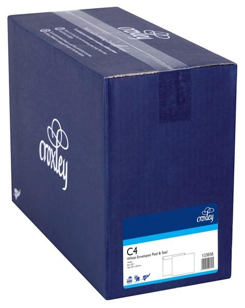 Croxley Envelopes C4 Peel & Seal Non Window White Box 250 - pr_402690