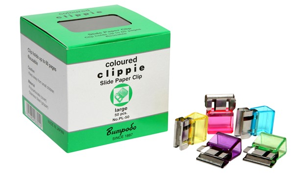 Clippie Clips Large Assorted Colours Pack 50 -