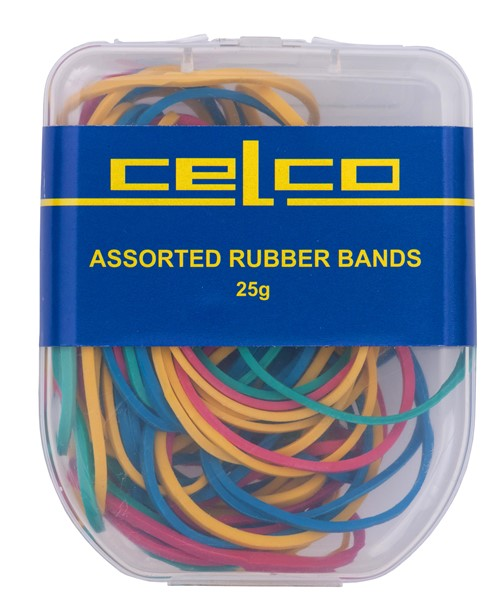 Celco Rubber Bands Assorted Sizes Pack 25gm - pr_402716