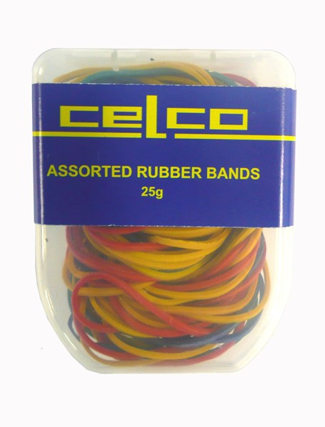 Celco Rubber Bands Assorted Sizes Pack 25gm - pr_402720