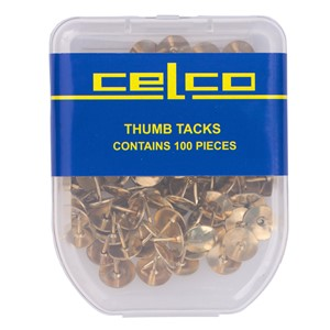 Celco Thumb Tacks Gold Pack 100