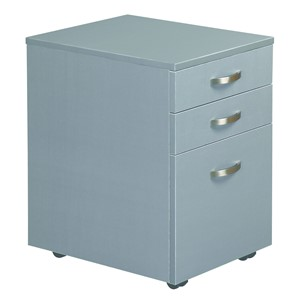 Eko 2 Drawer And File Mobile 400W x 500D Silver