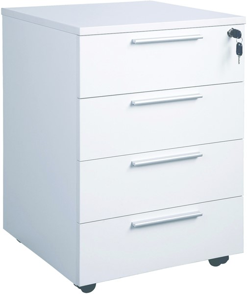 Cubit 4 Drawer Mobile White -