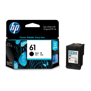 HP Ink Cartridge CH561WA 61 Black