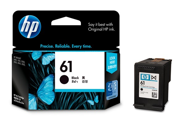 HP Ink Cartridge CH561WA 61 Black -