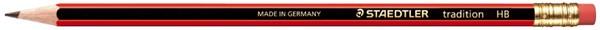 Staedtler Pencil With Eraser Tip HB Tradition -