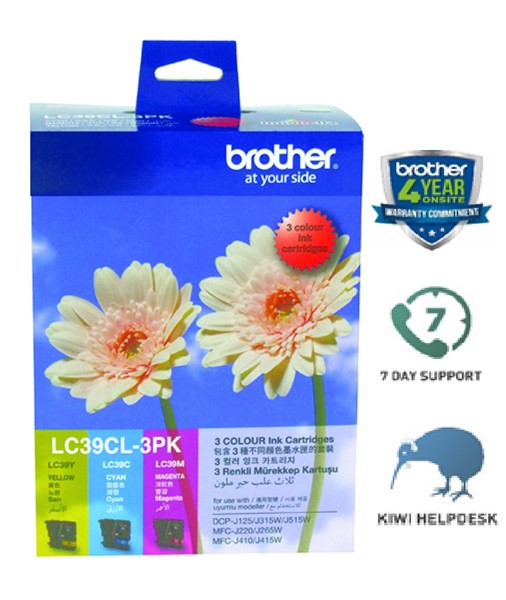 Brother Ink Cartridge LC39CL3PK CMY Pack -