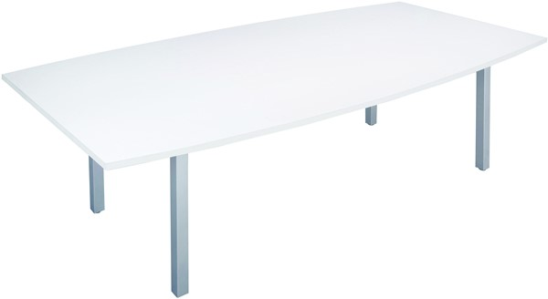 Cubit Boardroom Table 2400 x 1200 White - pr_402970