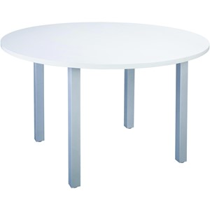 Cubit Meeting Table Round 1200 White