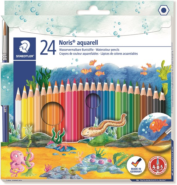Staedtler Noris Club Aquarell Watercolour Pencil 24pk -