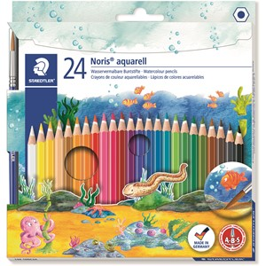 Staedtler Noris Club Aquarell Watercolour Pencil 24pk