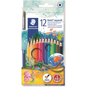 Staedtler Noris Club Aquarell Watercolour Pencil 12pk