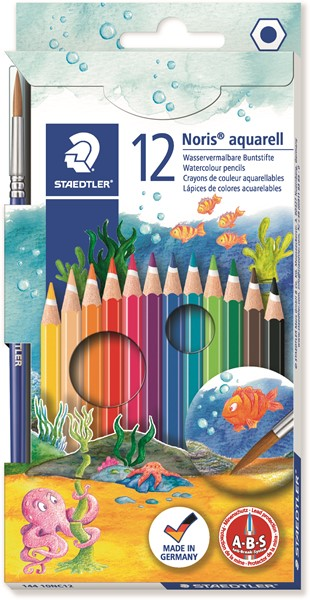 Staedtler Noris Club Aquarell Watercolour Pencil 12pk - pr_427512